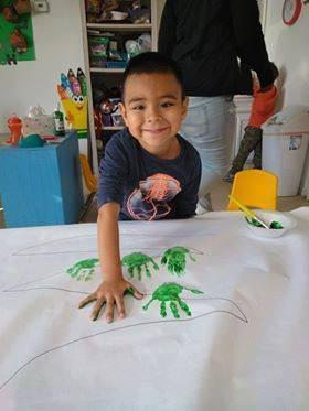 Boy Hand Painting