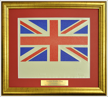 British flag photo||||Braille British flag