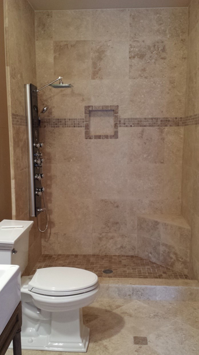Brown Shower Tile