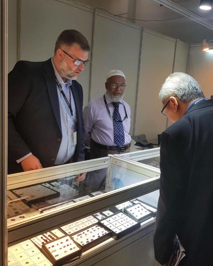Rafeeq Hasson and Lafir Abbas at gem show