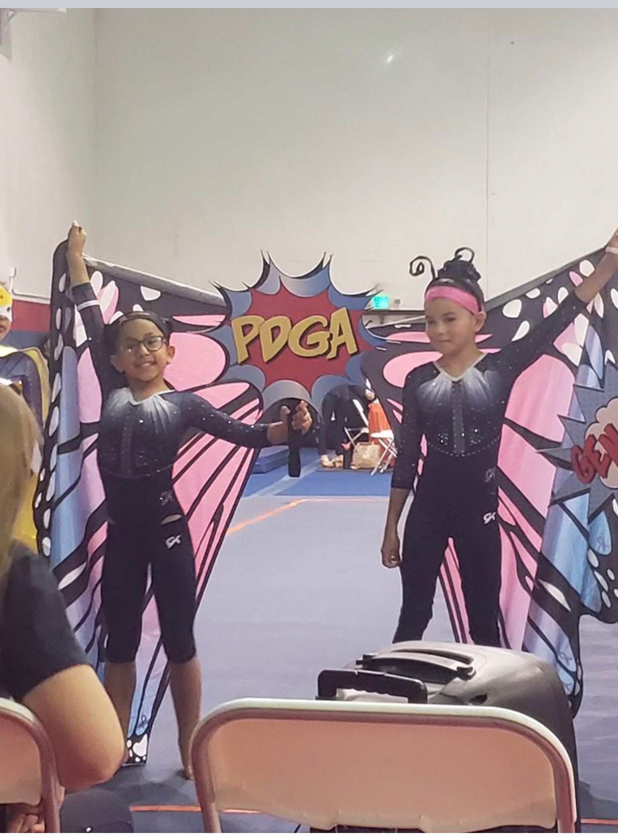 Gymnasts Having Fun