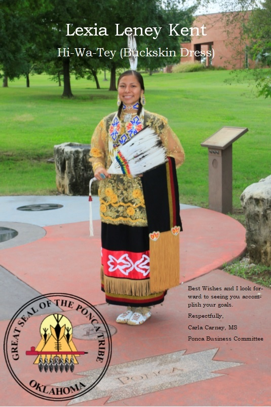 Jr. MIss Indian Oklahoma Contestant Respresenting the Ponca Tribe