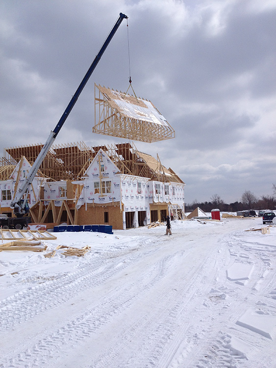 Wood Framing Installation Winter