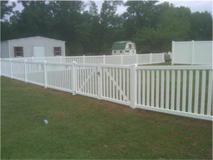 White Wooden Fence 3