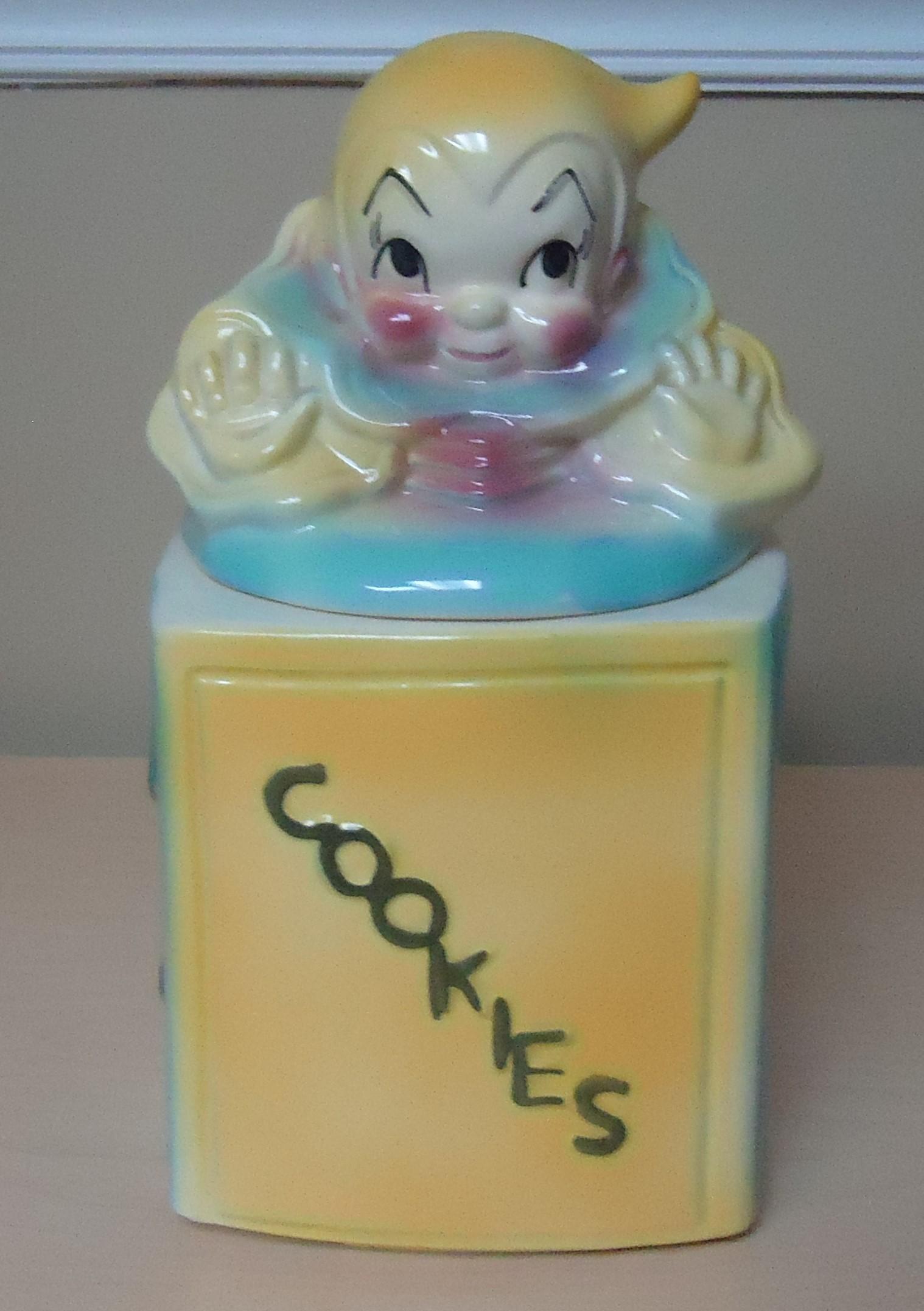 """(10) """"Vintage"""" Jack In The Box Cookie Jar $35.00"""