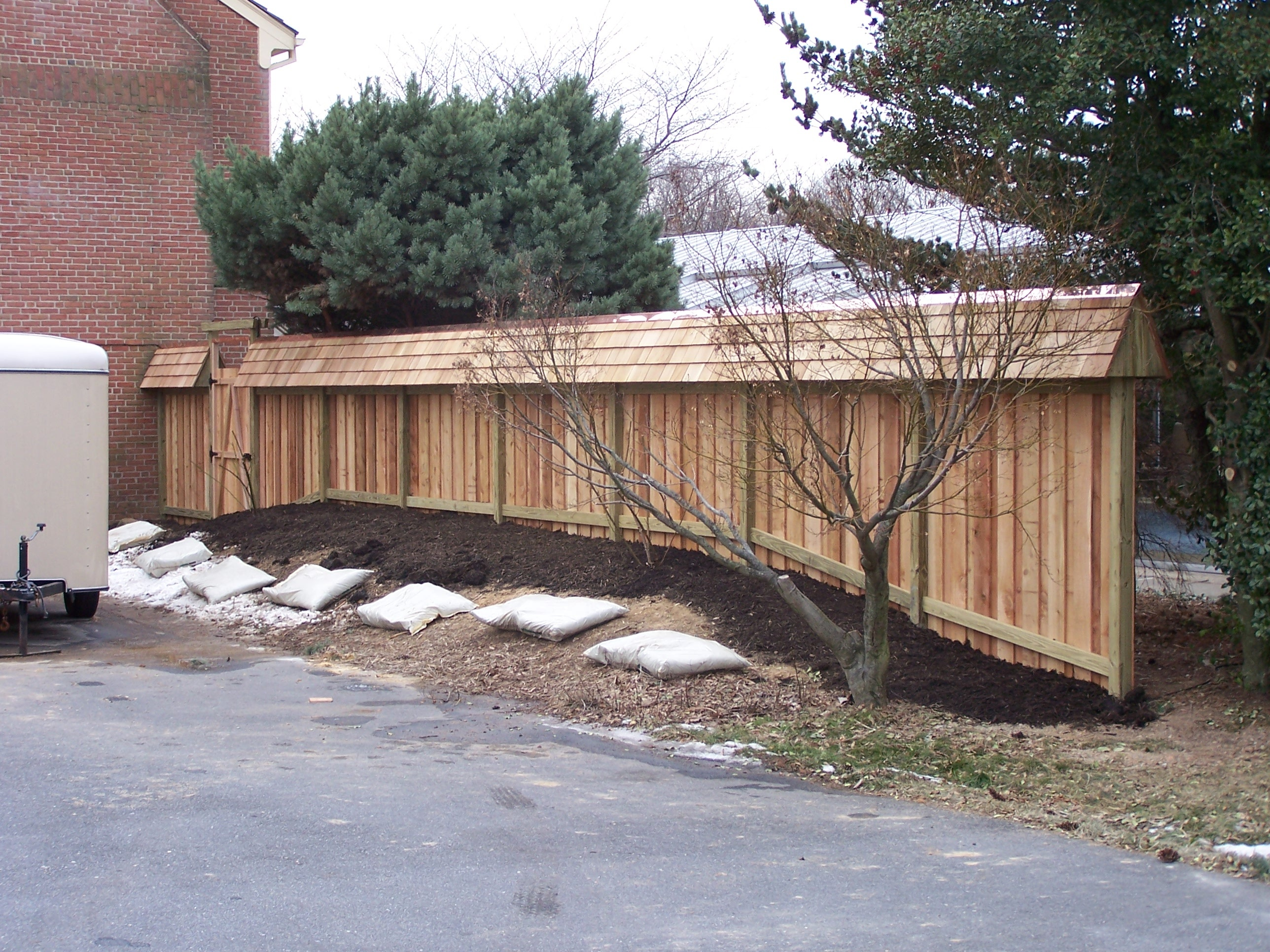 cedar privacy fence construction