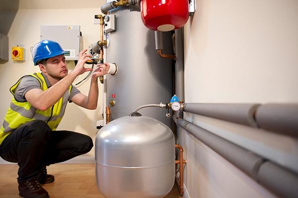 Engineer on heating system