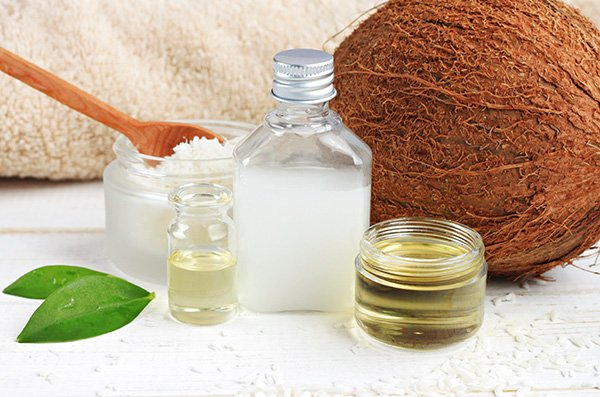 Coconut oil products for cosmetic use