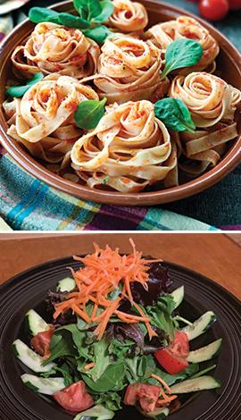 Pasta, Fresh Salad