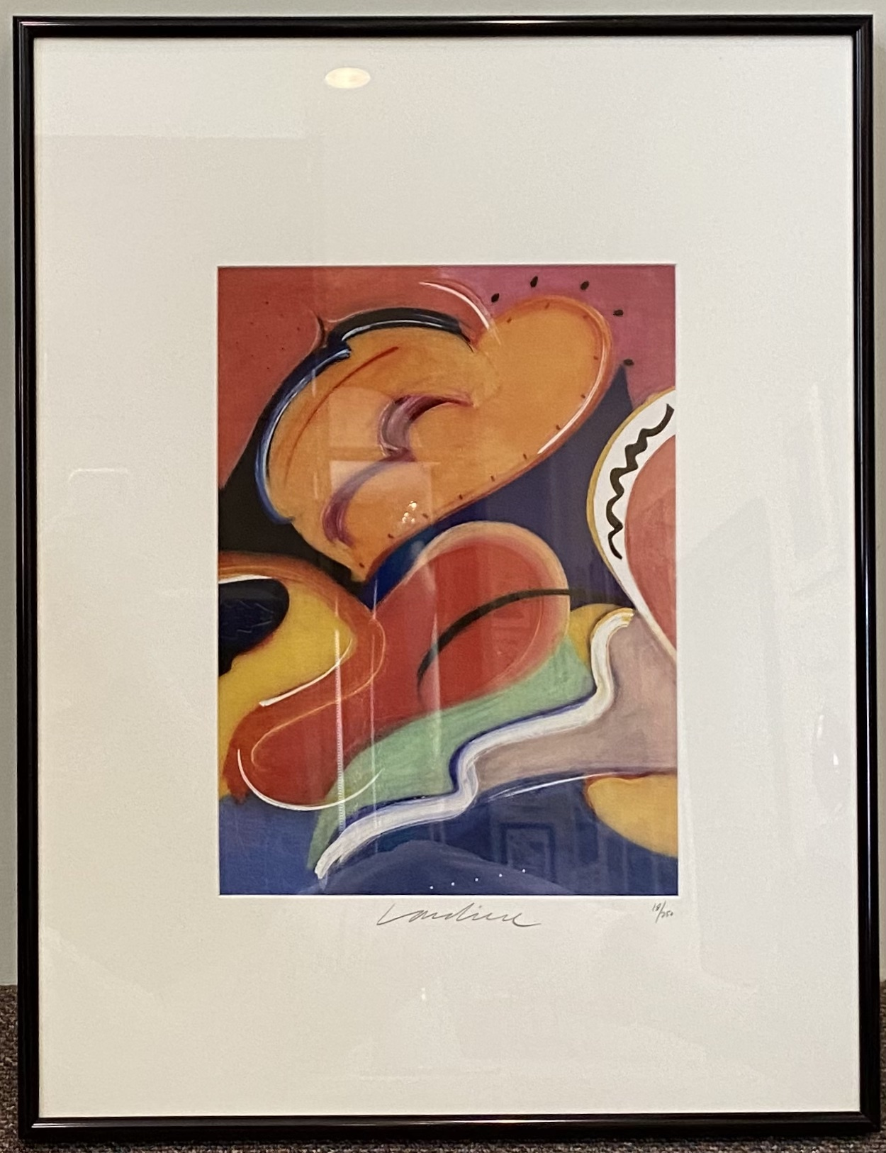 "Geoffrey Lardiere Sea of Dreams Lithograph 11"" X 15"" $365."