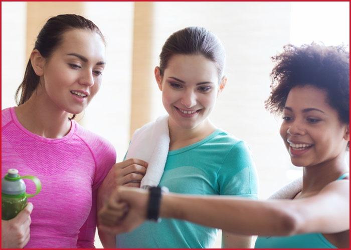 Women in gym.