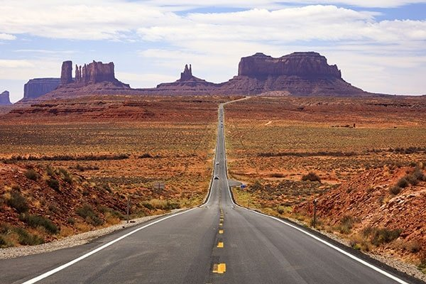 Famous road into Monument Valley, Utah, USA