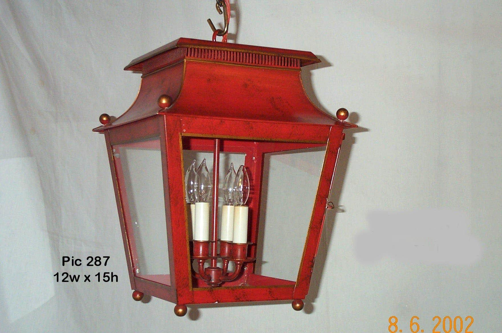 Red Tole Lantern