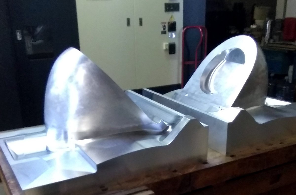 Aluminum Vacuum Molds for an Aircraft Toilets Shroud (port and starboard side)