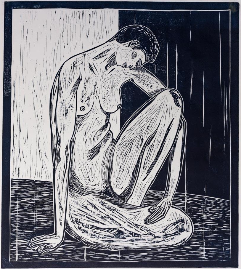 Creer, 2003 Grabado en madera sobre papel 34 x 30 cm