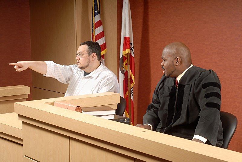 Man giving testimony in court