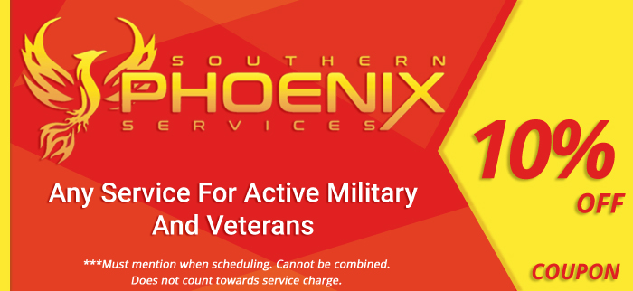10% off any service for active military and veterans