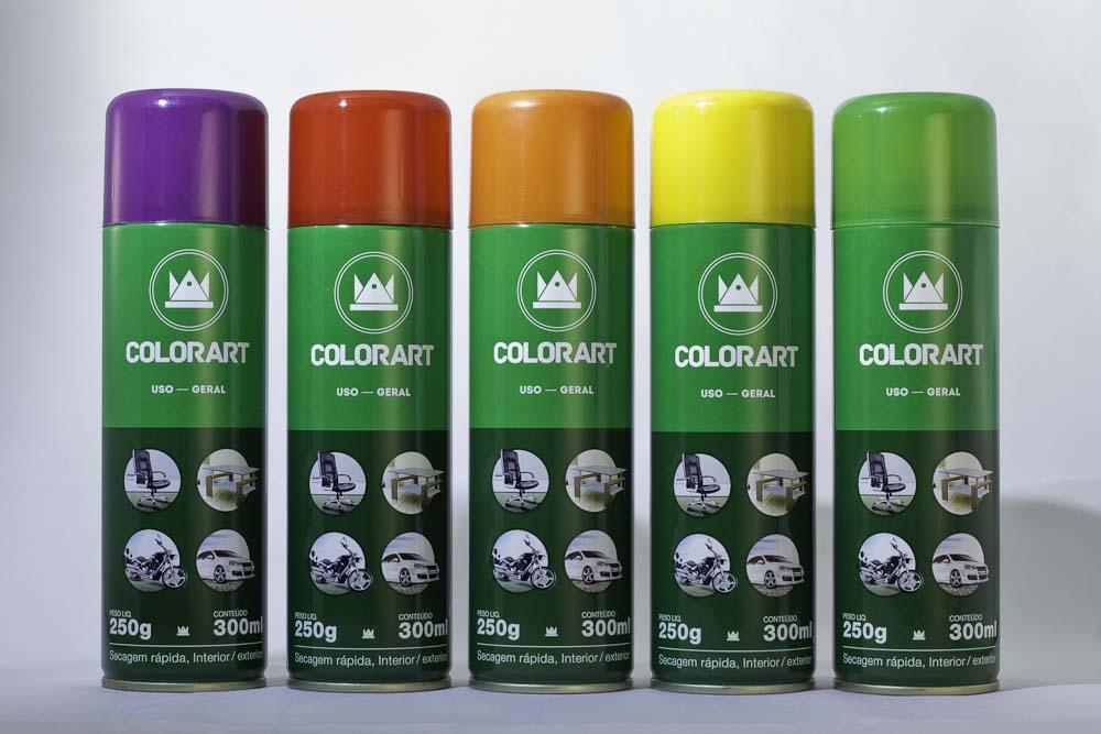 Spray Uso Geral Cores Lisas Secagem Rápida Interior/Exterior