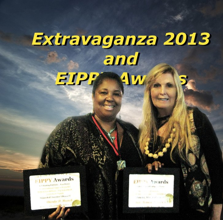 Viki presents Rev. Rhonda Branch with EIPPY Award for Bestsellers  Wounded? Survive! Thrive!!! and Ready, Aim, Influence!