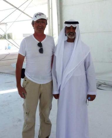With Sheikh Nahayan Mabarak Al Nahayan - Abu Dhabi