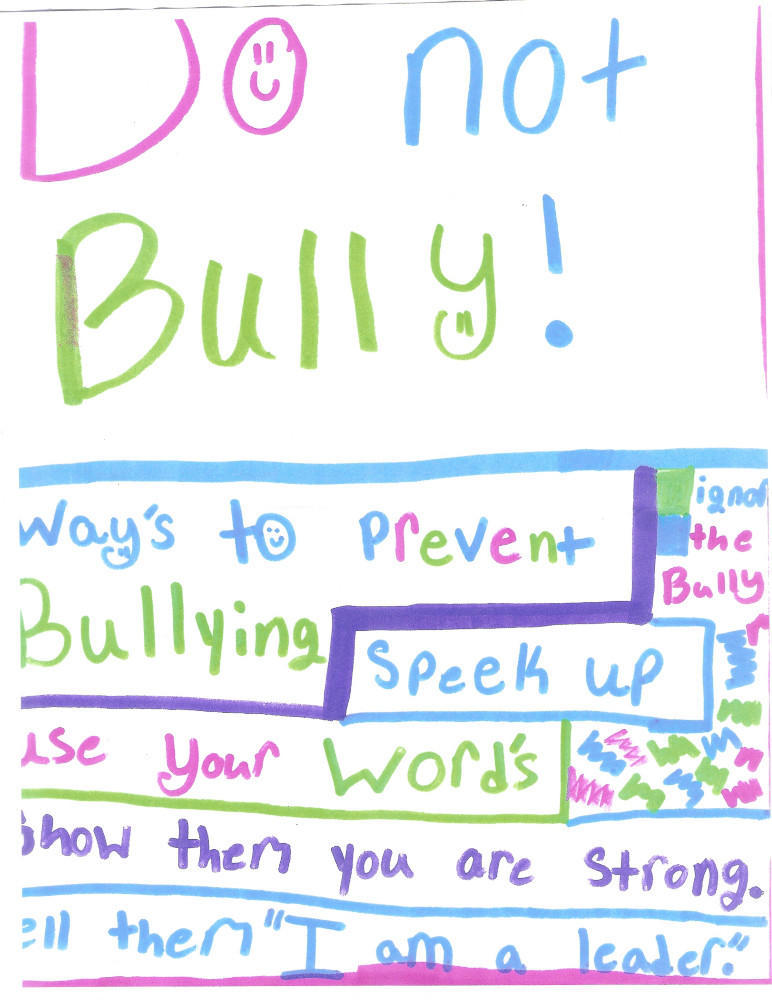 1st Grader's Thoughts on Bullying