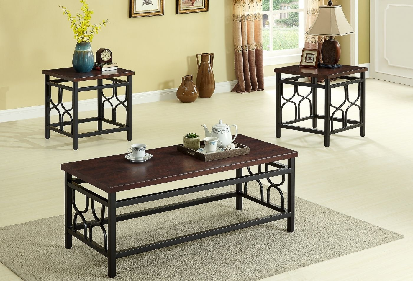 Benjamin C M 4021set 3 Piece Table Set Coffee And 2 End Tables