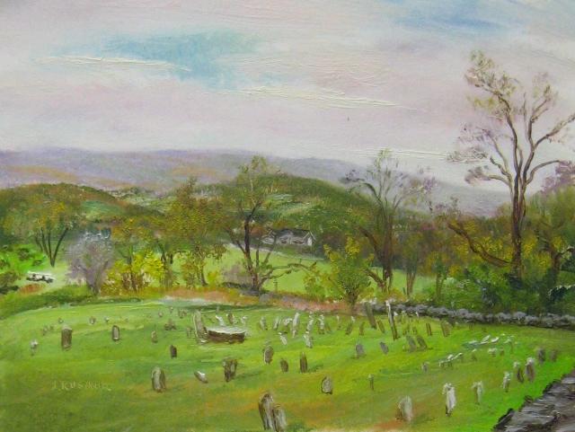 63. Historic Jerusalem Cemetery, Myersville, MD, 6x8 oil on panel