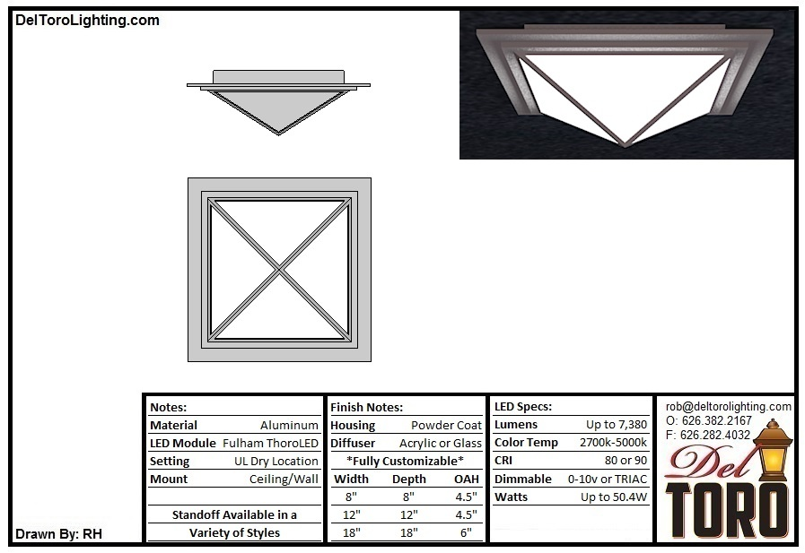 905C-Pyramid Box Flush Mount