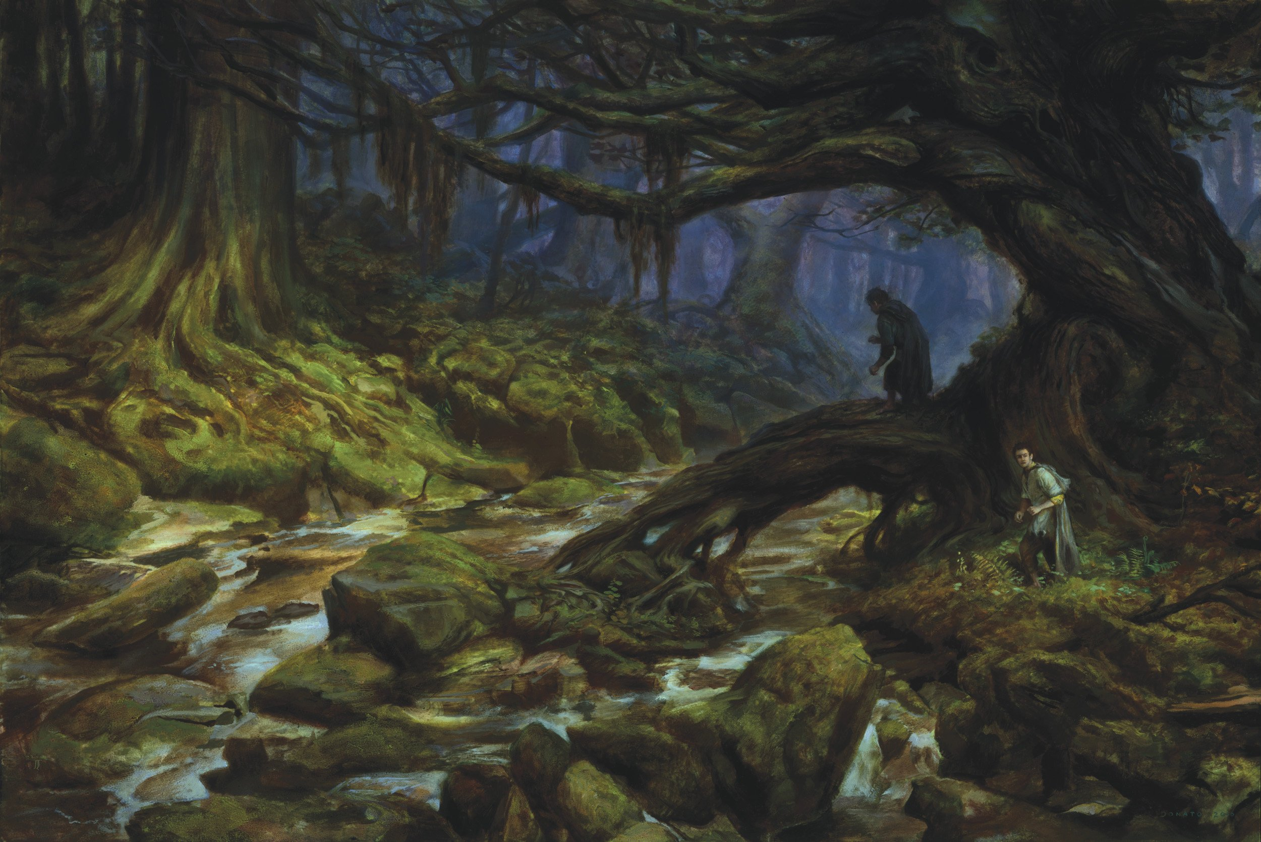 "Fangorn Forest - Merry and Pippin 24"" x 36""  Oil on Panel 2019 Illustration for The Lord of the Rings by J.R.R. Tolkien"
