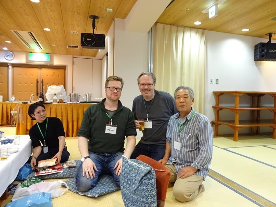 Friday night welcome dinner - Tex with Sato Seiji Sensei, Matt S. and Maki san.