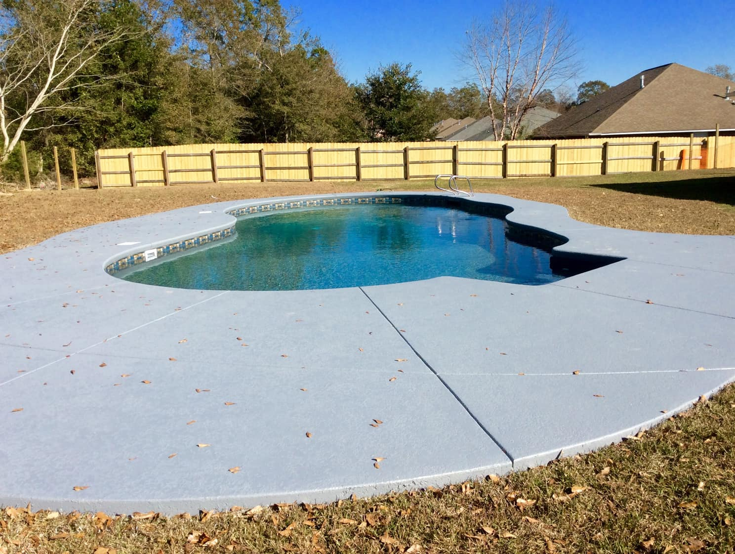 Mountain Pond Shaped Vinyl Pool
