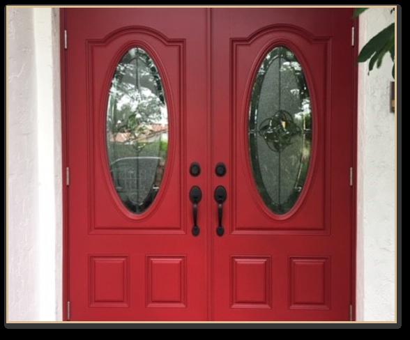Full Glass Oval Door