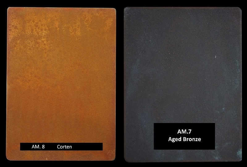 Architectural luxury finishes. Corten & aged bronze.