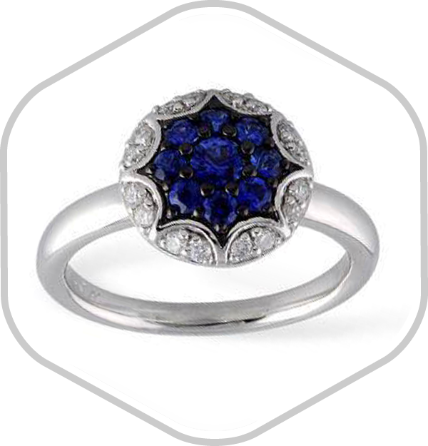 Sapphires Diamonds White Gold