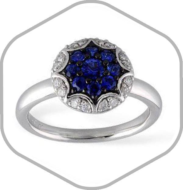Sapphires Diamonds White Gold