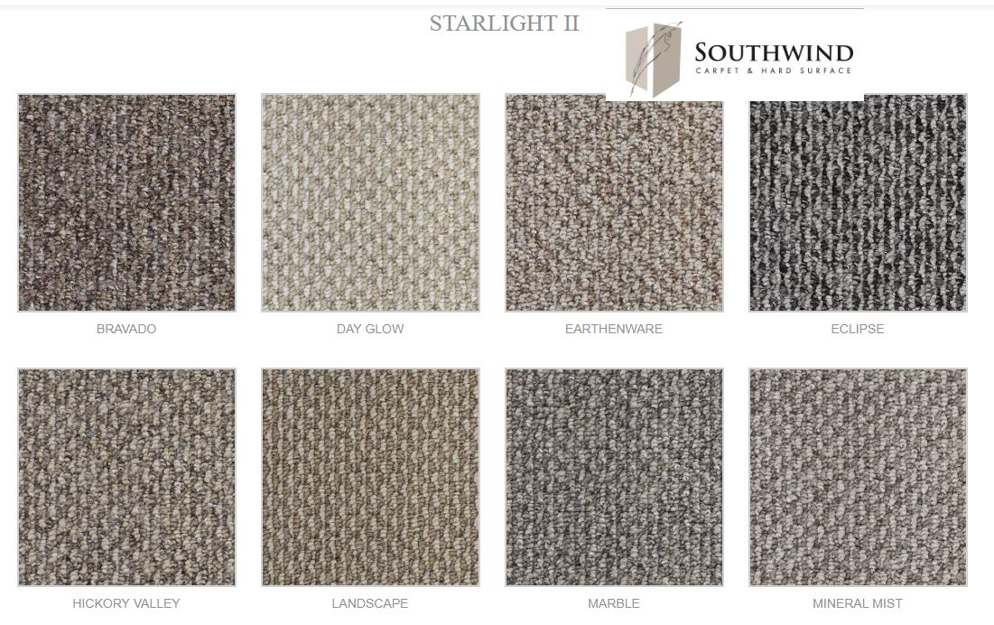 STARLIGHT   alfombra argollada  TIPO BERBER  100% Polipropileno .  Tráfico residencial  -  (814g/m2)