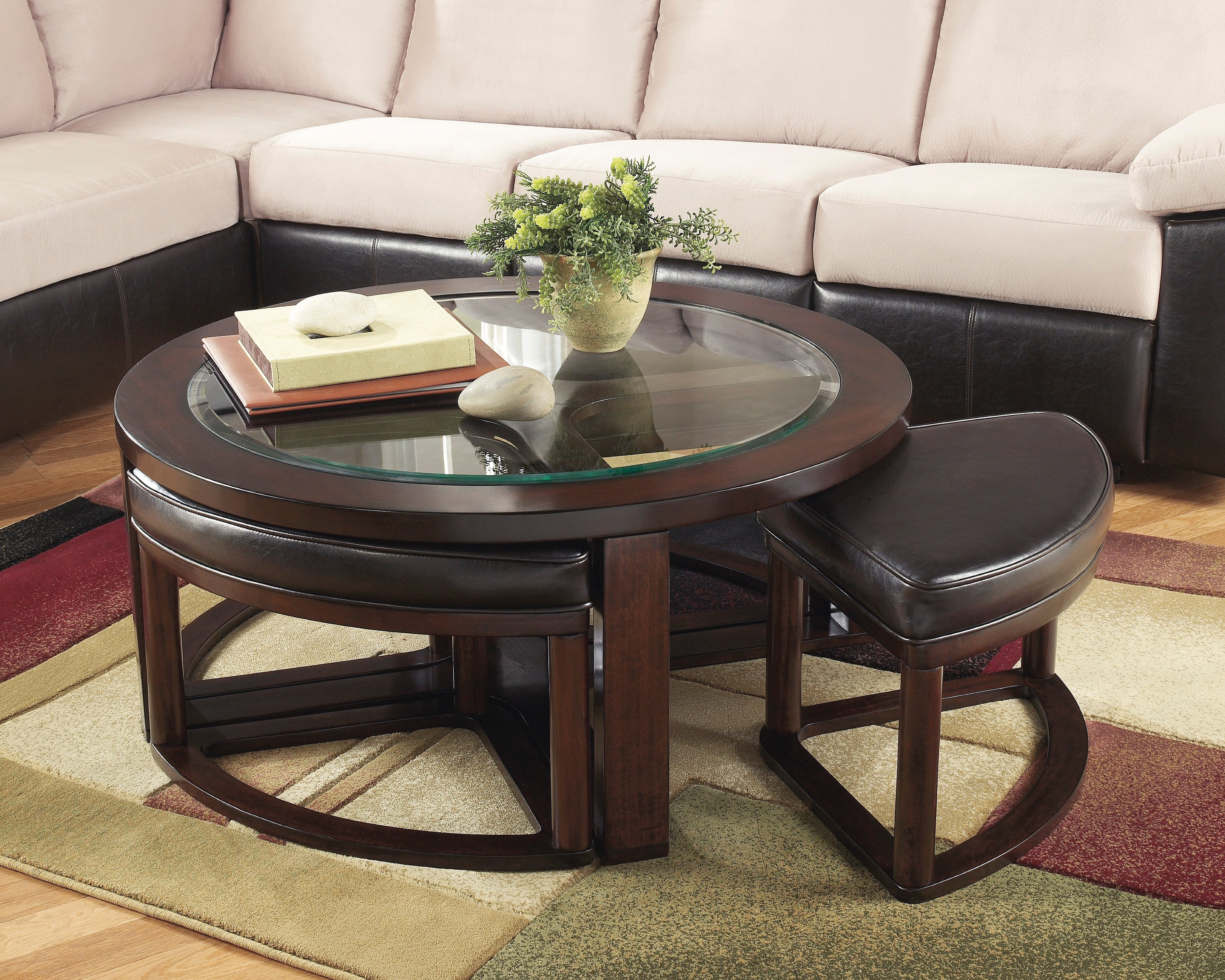 Marion Cocktail Table w/ 4 stools Also Available with set of End Tables
