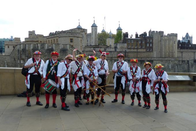 Merrydowners at the Tower of London