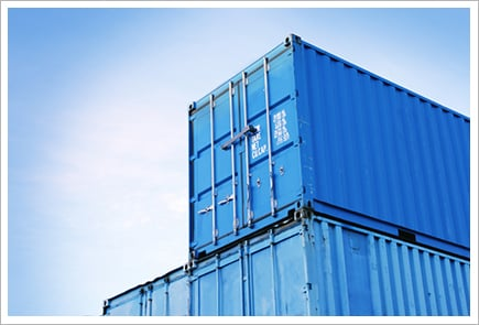 Blue cargo containers||||