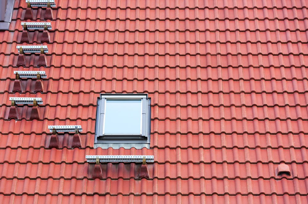 Red roof and window
