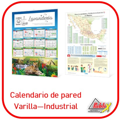 Calendario varilla industrial