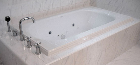 customer custom tiled tub