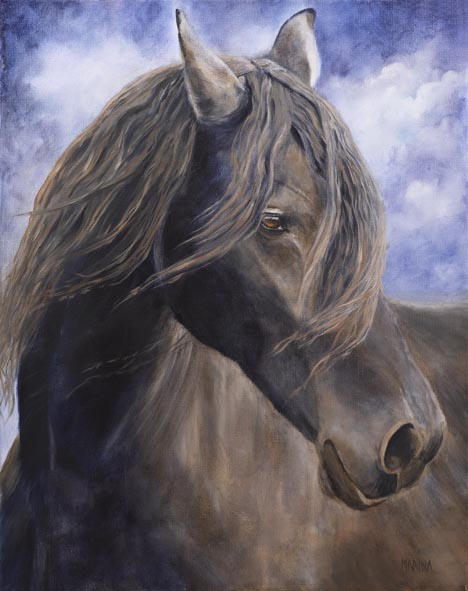 "Dreamer 16"" x 20""  oil on canvas"