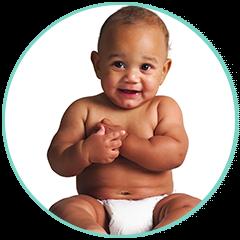 Baby on Diaper