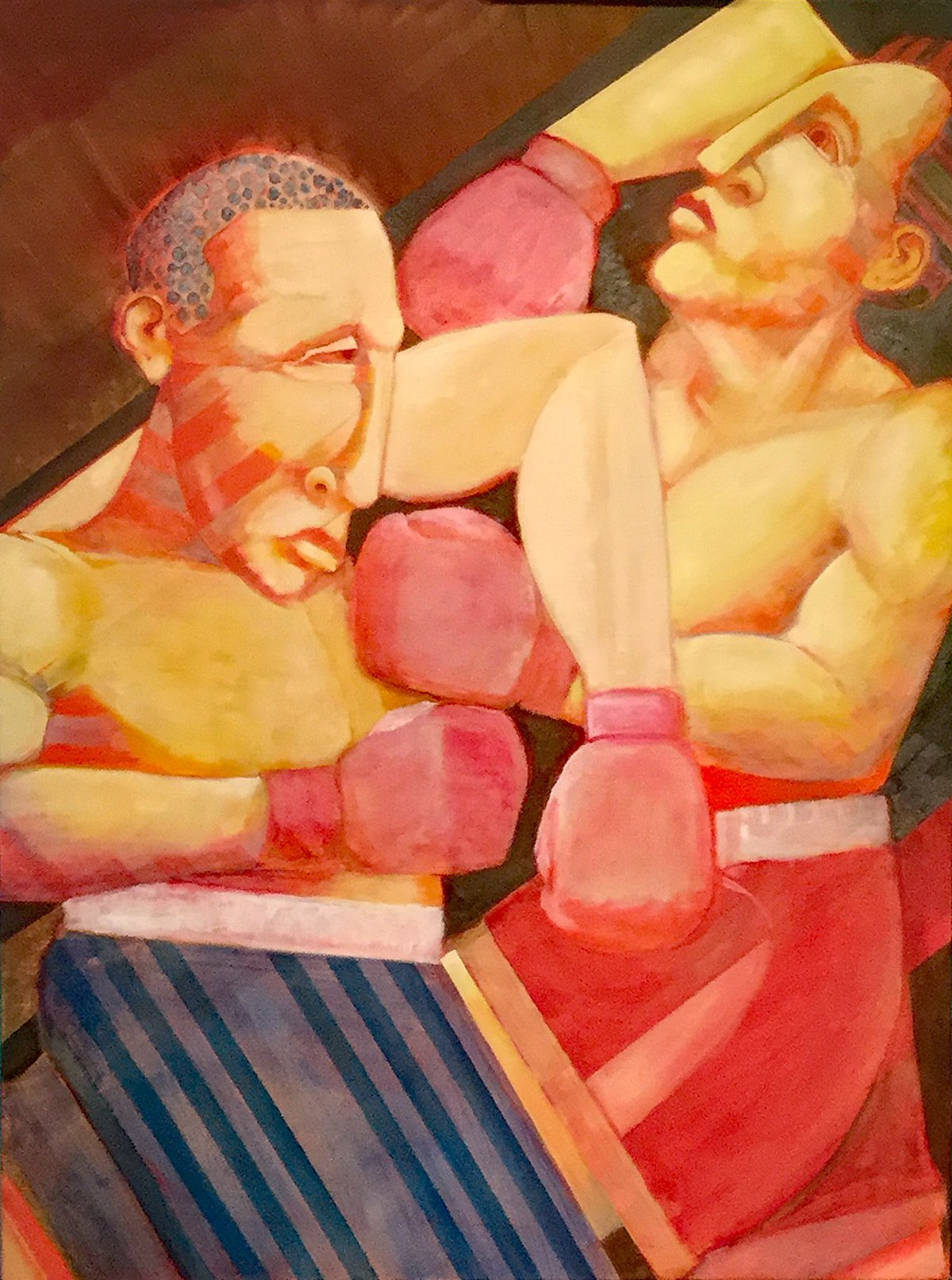 "Fight Oil on Stretched Canvas 30"" X 48"""