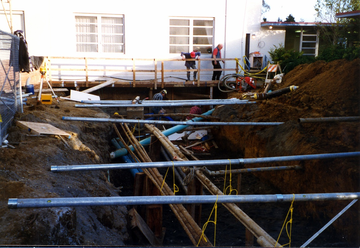 underground work at St Joseph Hosptial