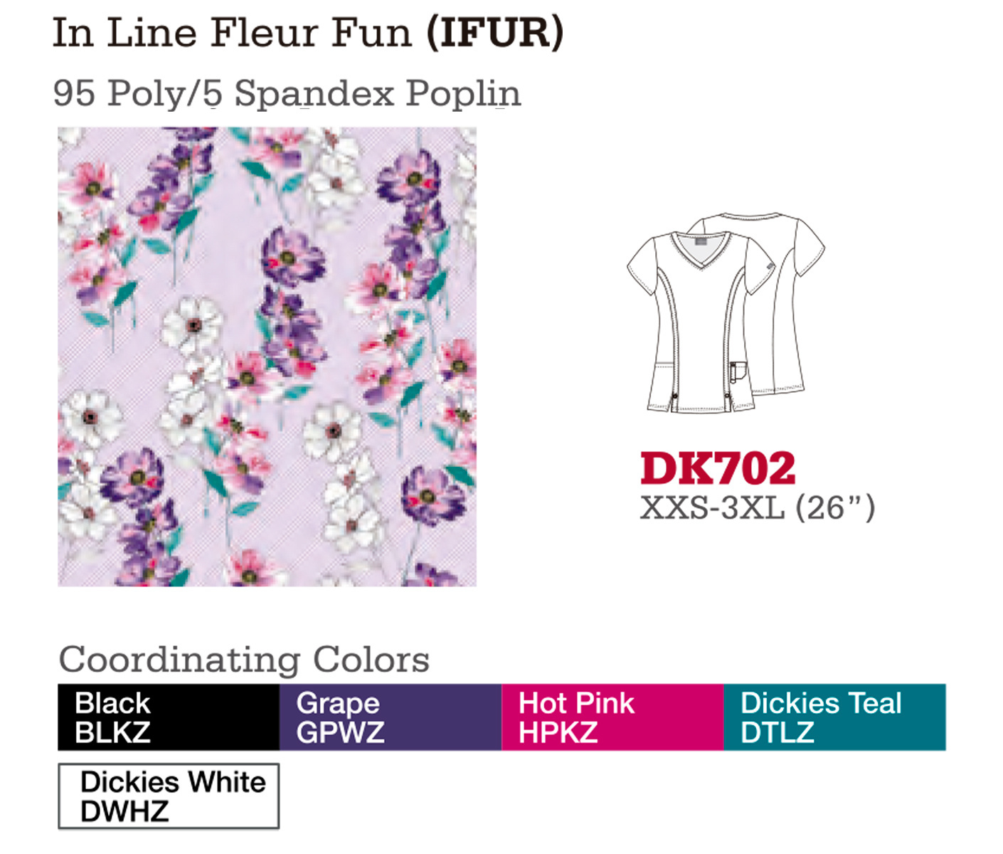 In Line Fleur Fun. DK702.