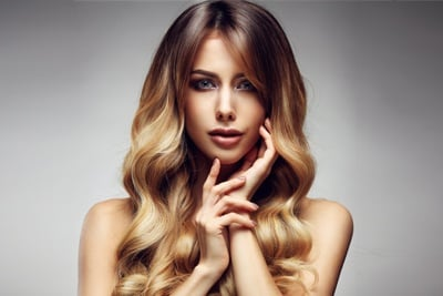 Woman with Beautiful Hair Color