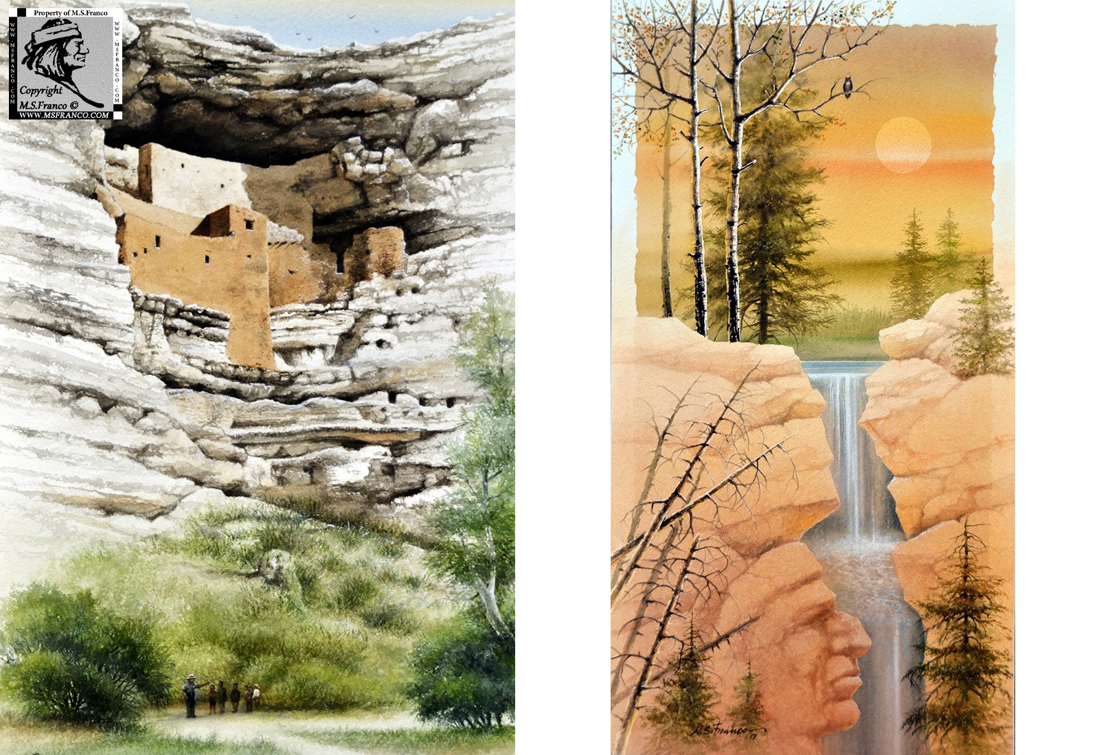 """Montezuma Castle"" and ""Eyes of the Owl """