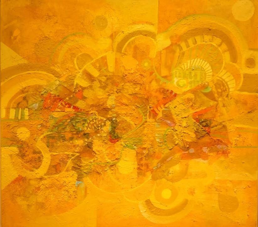 Destellos de la Creación del mundo óleo s/tela 90 x 100 cms